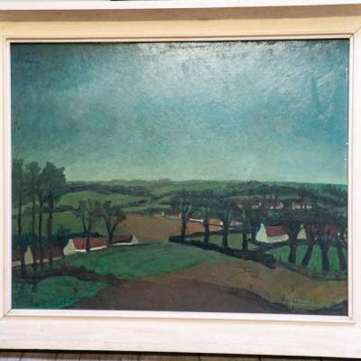 Open Plaats - schilderij in de kringloopwinkel in Gent en Destelbergen