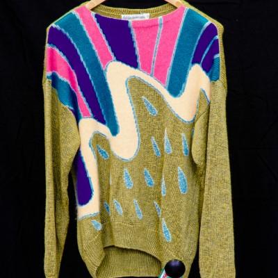 Open Plaats - retro trui met pastel kleuren