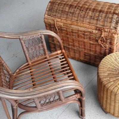 Open Plaats - retro rotan meubels in de kringloopwinkel