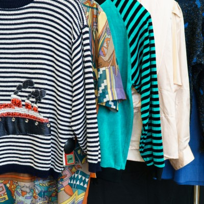 Open Plaats - retro vintage kleding met streepjes