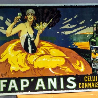 Open Plaats - vintage tweedehands reclambord in de kringloopwinkel gent en destelbergen