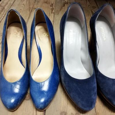 Open Plaats - tweedehands schoenen van Prada en Noë in de kringloopwinkel Brugse Poort