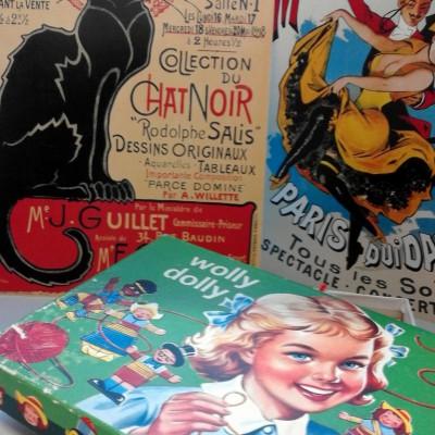 Open Plaats - tweedehands vintage prenten en geelschapsspel in de kringloopwinkel
